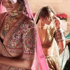 Sabyasachi Spring Summer 2019 collection just launched yesterday, and I have every single picture in this post for you. Lots of lehengas, sarees & more. Indian Dresses, Indian Outfits, Indian Clothes, Desi Clothes, Lehenga Choli, Anarkali, Sabyasachi Sarees, Sabyasachi Collection, Indian Couture