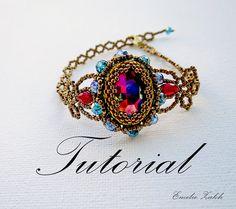 Beading lace tutorial bracelet.Victorian style bracelet.Tutorial jewelry.Instructions pattern beading Beadweaving bracelet tutorial.