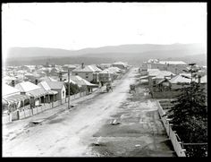 Carrington Street, West Wallsend, NSW, April Picture: scanned from the original glass negative taken by Ralph Snowball. Great Photos, Old Photos, Newcastle Town, Australian Road Trip, Tourist Info, Old Maps, Central Coast, Historical Architecture, Past