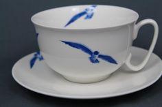 Küstenfeeling verbreitet auch die Frühstückstasse mit dem Motiv Möwen. Geniessen Sie Ihren Tee oder Kaffee und träumen Sie sich ans Meer...