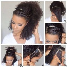 Protective hairstyle...Get more of us>>>.HAIR NEWS NETWORK on Facebook... https://www.facebook.com/HairNewsNetwork