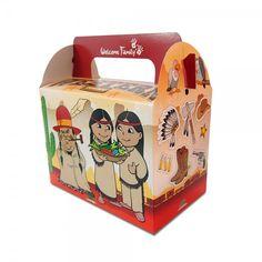 Une #lunchbox Western Boy pour présenter de façon originale les menus enfants.
