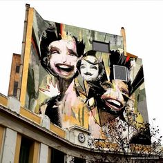 Alexandros Vasmoulakis, street art in Psyrri Athens Greece Best Street Art, Amazing Street Art, Athens City, Athens Greece, 3d Artwork, Street Art Graffiti, Street Artists, Public Art, Urban Art