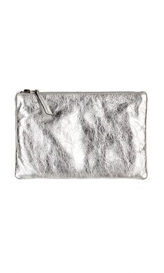 Silver Leather Clutch :: Day to Night :: Accessories :: Wedding Accessories