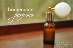 Homemade Perfume Recipe - Non-Toxic and Natural with Jojoba oil & essential oils