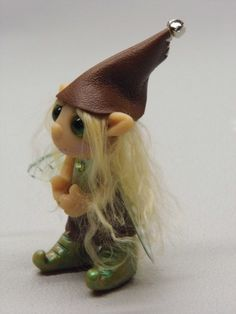 OOAK Handmade Polymer Clay Fairie Pixie by Woodlandkreatures, $28.00
