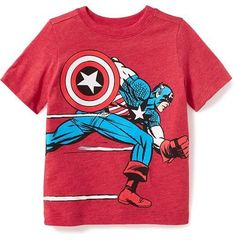 Old Navy Marvel Comics Captain America Tee for Toddler Boys