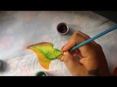 Pintura en tela camino pirograbado # 3 con cony - YouTube