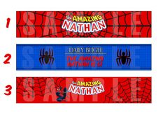 Water botle labelsSpiderman by MiBellaDesigns on Etsy, $5.00