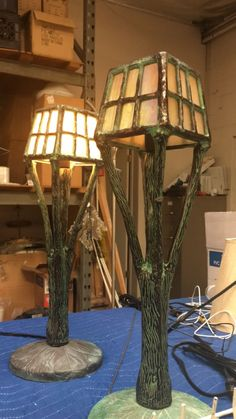 We're working on an interesting collaboration with a fellow designer. These charming table top lamps are a perfect gift idea for your eclectic Aunt Maggie.  -------------------------------  #ilovelamp #bts #upandcoming #eclecticlighting #tabletoplamp #lamp #customlighting #customlightfixtures #customlightingdesign #lightingdesign #customdesign #lightfixtures #hospitalityindustry #hotellighting #restaurantlighting #wallsconce #chandelier #pendant #accentlighting #moodlighting #manufacturing
