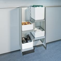 CUBE - Designer Kitchen organization from ✓ all information ✓ high-resolution images ✓ CADs ✓ catalogues ✓ contact information. Kitchen Organization, Kitchen Storage, Next 125, German Kitchen, Cube Storage, Storage Solutions, Storage Ideas, Design Consultant, Kitchen Dining