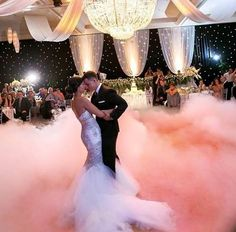 first dance, on a cloud. (bride, groom, wedding reception)                                                                                                                                                                                 More