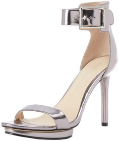 Calvin Klein Women's Vivian Mirror Metallic Sandal