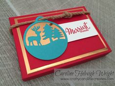 Merriest Wishes Gift Tag Gift Set - Video Tutorial using Stampin' Up Products        I just love the way this box turned out - it is a reall...