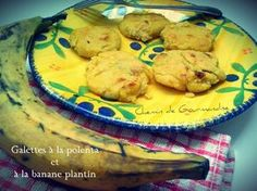Galette de polenta à la banane plantin