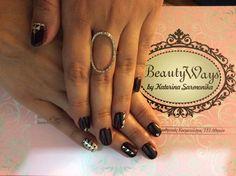 #shellac#darkchocolate#goldennailart#nailart#manicure#beauty#beautyways#beautywaysbykaterinasarmonika