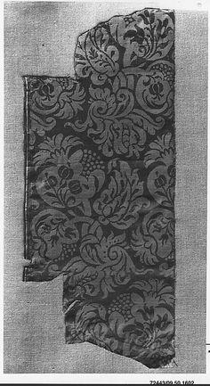 17th century Italian or Spanish silk