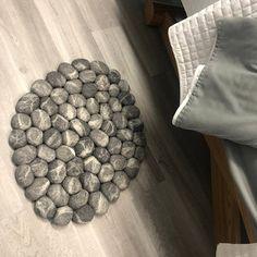 felt carpet supersoft pebbles - felt stone carpet, wool from sheep & lama Stone Rug, Product Offering, Bath Rugs, Felt Art, Etsy, Wool Rug, I Shop, Shower Designs, Make It Yourself