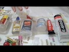Teste de colas para artesanato - E6000, Pegamil, Silicone, Eva, Cols Jeans - YouTube