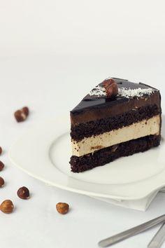 Torta senza glutine con crema al caffè e crema di raffinato cioccolato bavarese / Senza glutine entremet | La passione per la cucina