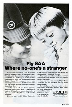 Flight Attendant, Print Ads, Visual Identity, Vintage Posters, South Africa, Aviation, History, Aircraft, Commercial