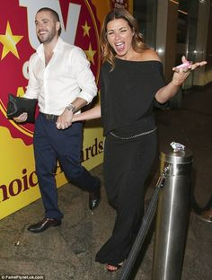 Celebrate good times: Coronation Street co-stars Shayne Ward and Alison King put on an ani...