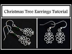 Celtic Christmas Tree Earrings