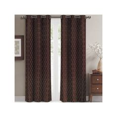 Willow Pair (Set of 2 Jacquard Blackout Thermal Insulated Window... ($50) ❤ liked on Polyvore featuring home, home decor, window treatments, curtains, thermal curtains, thermal panels, thermal window coverings, blackout panels and thermal blackout curtains