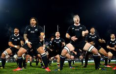 Ma'a Nonu (L) and Kieran Read (R) of the All Blacks perform the haka during the International Test match between the New Zealand All Blacks and France at AMI Stadium on June 2013 in Christchurch, New Zealand. Richie Mccaw, All Blacks Rugby, New Zealand, Athlete, Nfl, France, Sports Teams, June, Bucket