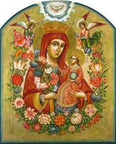 Hail Holy Queen, Images Of Mary, Queen Of Heaven, Brand Book, Holy Mary, Madonna And Child, Holy Family, Orthodox Icons, Mother Mary