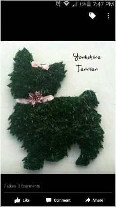 Yorkie Christmas wreath