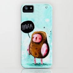 Digues PATATA Say cheese  iPhone Case by Liliana Fortuny