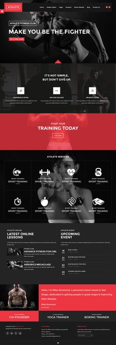 Athlete - Fitness, Gym and Sport Wordpress theme. #webdesign Live Preview and Download: http://themeforest.net/item/athlete-fitness-gym-and-sport-wordpress-theme/11063840?ref=ksioks