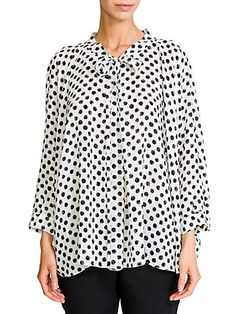 Dolce & Gabbana - Dot-Print Silk Blouse Saks Fifth Avenue, Proenza Schouler, Work Wear, Dots, Silk, My Style, Gladiators, Shirts, Dresses