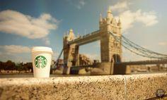 Starbucks Tower Bridge by davidstolarik on DeviantArt Coffee Company, Coffee Coffee, Tower Bridge, Caffeine, Starbucks, Bucket, Deviantart, London, Tea