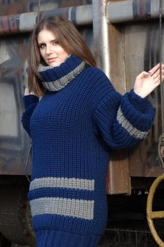 Ripped Drop Schulter Tunika Pullover Helles Blau: Pullover