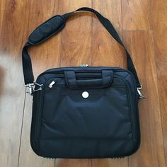 """Dell 15"""" Black Laptop Bag Well used condition. One of the sides have ripped but can be repaired, as seen in the last photo. Tested with a 15"""" MacBook. 😺 Comes from a smoke-free, but not pet-free home. ➡️ Offers welcomed. 🚫 No trades. No holds. 📦 Fast shipping! 👰🏻 Saving up for my wedding, so considering all reasonable offers! Dell Bags Laptop Bags"""