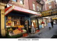 Businesses on St Nicholas Avenue in the primarily Dominican New York neighborhood of Washington Heights Richard - Stock Photo