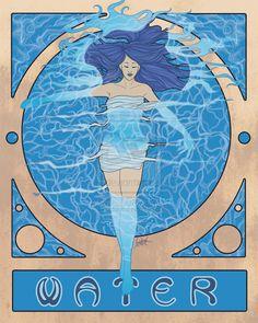 """Elements Water:  """"Elementals: Water,"""" by skardash, at deviantART."""
