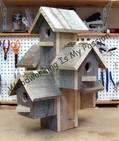 Bird House Plans 370702613072289432 - Apartment Birdhouse Source by g_rabier Wooden Bird Houses, Bird Houses Diy, Bird House Plans, Bird House Kits, Diy Wood Projects, Wood Crafts, Homemade Bird Houses, Bird House Feeder, Bird Feeders