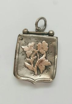Victorian Sterling Silver and Gold Flower Locket