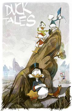Duck Tales by Ivan Shavrin Disney Films, Disney And Dreamworks, Disney Characters, Arte Disney, Disney Pixar, Dagobert Duck, Disney Ducktales, Cartoon Books, Scrooge Mcduck