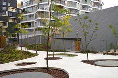 Pocket Park: Central Garden Block by TN+ Landscape Architects Architecture Design, Landscape Architecture, Architecture Definition, Traditional Landscape, Contemporary Landscape, Landscape Designs, Modern Landscaping, Backyard Landscaping, Landscaping Design