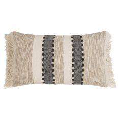 Kissenbezug aus Baumwolle mit Fransen 50 x 30 | Maisons du Monde