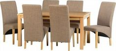Belgravia /fabric/ Dining Set for Six Oak Dining Sets, Dining Chairs, Dining Table, New Furniture, Create Your Own, Fabric, Home Decor, Tejido, Tela