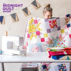 Oh my goodness!! I am so freaking excited to show you the newest episode of the Midnight Quilt Show! Thanks to your support (as well as getting your quilty friends involved), Craftsy has agreed to produce several more episodes, including this one! The Wallflower quilt is designed by Janice Ryan and I just fell in love with it and the beautiful fabric. But, before you watch the video, let's talk about my favorite part, the quilting! Quilting the Wallflower Quilt When quilting this big…