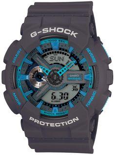 G-Shock XL Worldtime Dark Grey/Cyan -Limited Edition