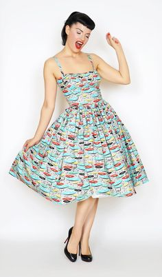Paris Dress in for the Record #1950s-pin-up #50s-dresses #50s-pin-up…