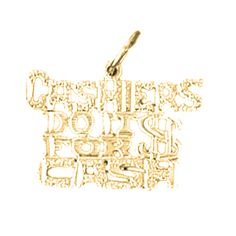 """Yellow Gold-plated 925 Silver 17mm Cashiers Do It For Cash Saying Pendant Necklace. 30 Day Money Back Guarantee. Manufactured by JewelsObsession with the highest quality 925 sterling silver. Pendant Gram Weight: 1.02 / Avg. Chain Gram Weight: 3.74. Pendant Dimension: Length: 17 mm x Width: 20 mm. Includes Yellow Gold-plated 925 Sterling Silver 1.5mm Cable Chain 16"""", 18"""", 20"""", 22"""", 24"""" & 30"""" Length."""