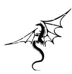 Medieval Dragon Stencil - 10 inch (at longest point) - mil standard Medieval Dragon, Celtic Dragon, Stencil Templates, Stencils, Stencil Patterns, Mini Tattoos, Body Art Tattoos, Tatoos, Dragon Silhouette